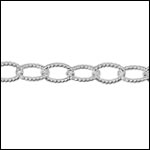 STERLING SILVER etched cable chain per foot