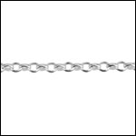 STERLING SILVER 2mm rolo chain per foot