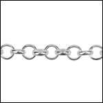 STERLING SILVER Chain 22 per foot
