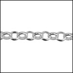 STERLING SILVER 3mm rolo chain per foot