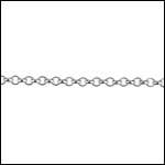 STERLING SILVER 1.5mm rolo chain per foot