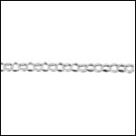 STERLING SILVER 2mm dainty rolo chain per foot