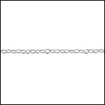STERLING SILVER 1mm cable chain per foot
