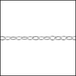 STERLING SILVER 2mm oval cable chain per foot