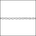 STERLING SILVER 1.7mm rolo chain per foot