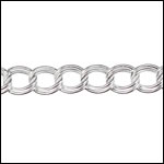 STERLING SILVER 5mm double link chain per foot