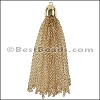 Dome Cap Tassel GOLD - per piece