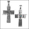 Cross Pendant with AB Swarovski Crystal - per piece