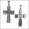 Cross Pendant with CLEAR Swarovski Crystal - per piece
