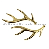 DEER HORNS euro charm GOLD- per 10 pieces