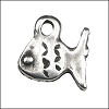 small fish pendant charm per 20 pieces ANT. SILVER