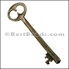 Pewter Key Charm 23 ANTIQUE BRASS - per piece