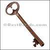 Pewter Key Charm 23 ANTIQUE COPPER - per piece