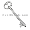 Pewter Key Charm 23 ANTIQUE SILVER - per piece