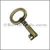 Pewter Key Charm 26 ANTIQUE BRASS - per piece