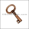 Pewter Key Charm 26 ANTIQUE COPPER - per piece