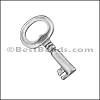 Pewter Key Charm 26 ANTIQUE SILVER - per piece