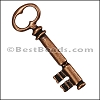 Pewter Key Charm 29 ANTIQUE COPPER - per piece