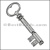 Pewter Key Charm 29 ANTIQUE SILVER - per piece