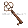 Pewter Key Charm 31 ANTIQUE COPPER - per piece