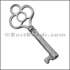 Pewter Key Charm 31 ANTIQUE SILVER - per piece