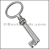 Pewter Key Charm 33 ANTIQUE SILVER - per piece