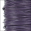 1.9mm round Greek leather dyed LAVENDER - per 50m SPOOL