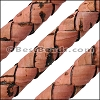 6mm round BRAIDED CORK DUSTY ROSE - meter