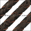 6mm round BRAIDED CORK DARK BROWN - meter
