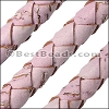 10mm round BRAIDED CORK PINK - per 2 meters