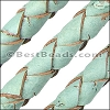 10mm round BRAIDED CORK PALE TURQUOISE - per 2 meters