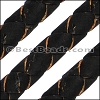 6mm round BRAIDED CORK BLACK - meter