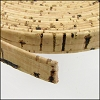 10mm flat CORK NATURAL (black design) - per 2 meters