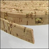 10mm flat CORK GOLD - per 2 meters