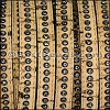10mm flat CRYSTAL CORK NATURAL - per 1 meter