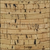 5mm flat CORK NATURAL (black design) - per 5 meters