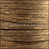 5mm flat MARBLED cork DARK NATURAL - per 20m SPOOL