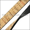 10mm flat CORK with BLACK NATURAL - per 5 meters