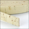 10mm flat CORK CREAM - per 2 meters