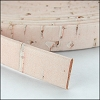 10mm flat CORK BEIGE - per 2 meters