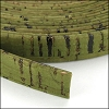 10mm flat CORK OLIVE GREEN - per 2 meters