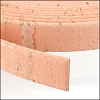 10mm flat CORK PEACH - per 2 meters