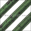 Stitched Mini Regaliz® CORK GRASS GREEN - per 1 meter