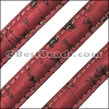 Stitched Mini Regaliz® CORK RED - per 1 meter