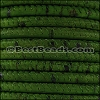 5mm round CORK GRASS GREEN - meter