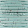 5mm round CORK BABY BLUE - per 10 feet