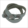 Leather DOUBLE STRAP wrap bracelet GREY