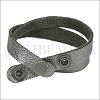 Leather DOUBLE STRAP wrap bracelet METALLIC ANTIQUE SILVER