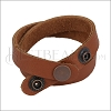 Leather DOUBLE STRAP wrap bracelet LT RUST