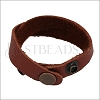 Leather DOUBLE STRAP wrap bracelet DARK RUST